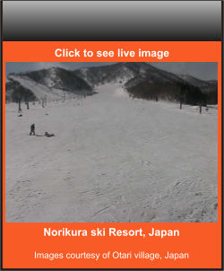 Norikura ski Resort, Japan  Images courtesy of Otari village, Japan    Click to see live image